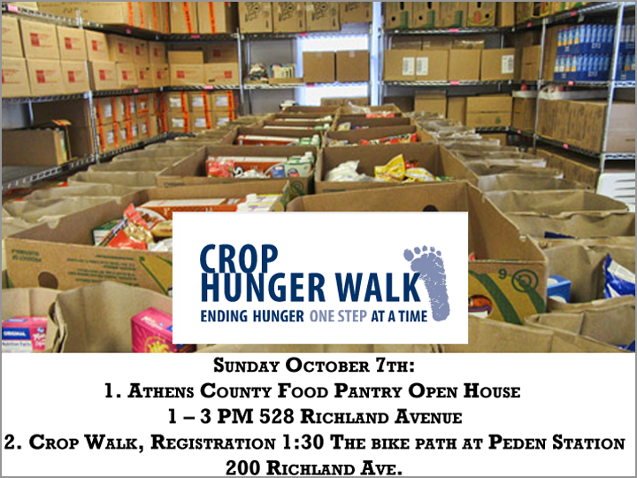 Information for the Crop Hunger Walk 2018