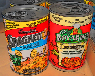 canned spagetti-o's