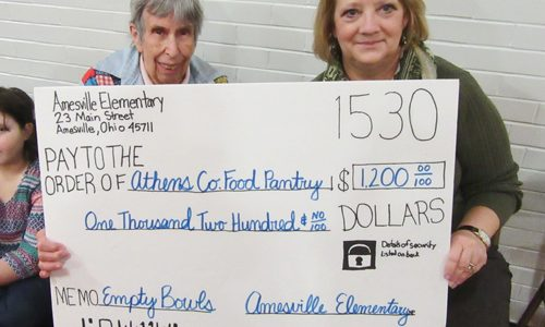 Amesville Elementary donates to the Food Pantry