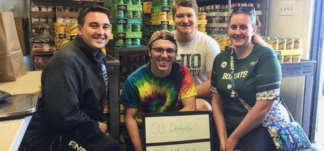 Two Ohio University groups donate food