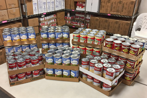 Walmart food drive donation sample