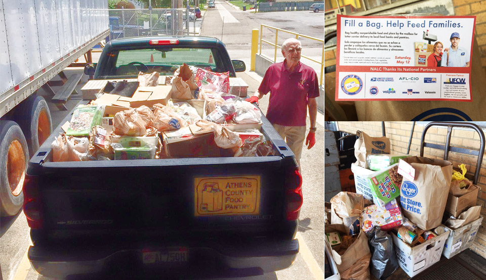 Photos from the letter carrier food drive