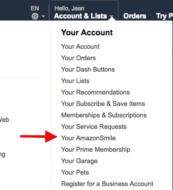 Amazon smile location