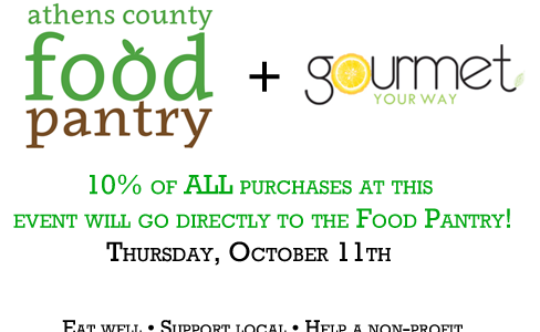 Food Pantry to benefit from Gourmet Your Way
