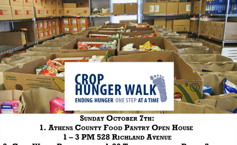 Crop Hunger Walk and Athens County Food Pantry Open House