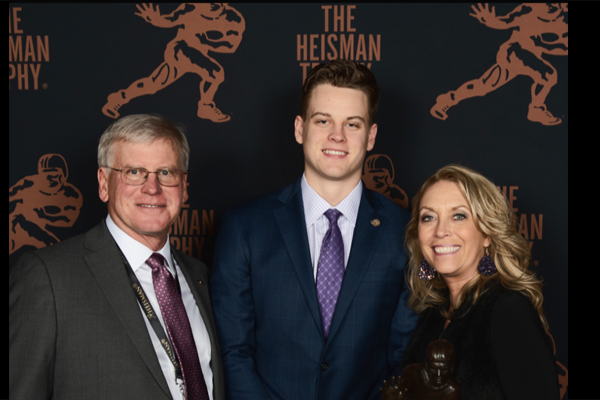 Joe Burrow and Family at the Heisman Trophy Event
