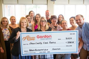 Big check donation to Athens County Food Pantry
